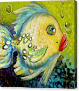 Bubbles Fish Canvas Print