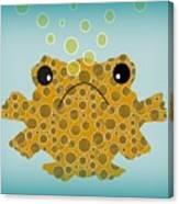 Bubbles The Fish Canvas Print