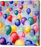 Bubbling Balloons Canvas Print