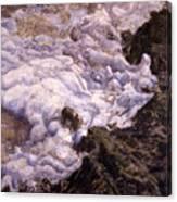 Bubbling Sea Rocks Canvas Print
