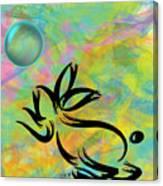 Bubbly Rabbit Canvas Print