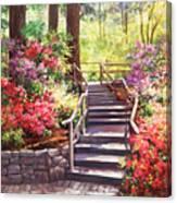 Buchart Garden Stairway Canvas Print