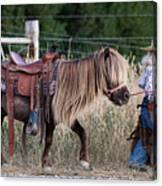 Buckaroo Cowgirl Canvas Print