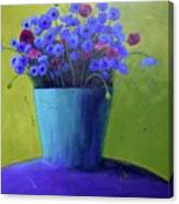 Bucket Of Blue Canvas Print
