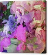 Bucket Of Peas Digital Watercolor Canvas Print