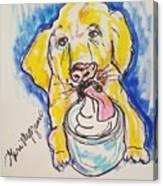 Buckett List For Dogs Canvas Print
