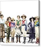 Buckin Horse Suffragettes Canvas Print
