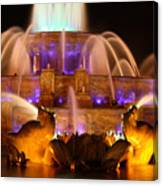 Buckingham Fountain At Night Canvas Print