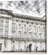 Buckingham Palace London Snow Canvas Print
