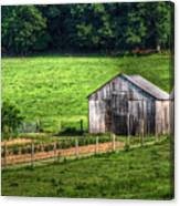Bucolic Tobacco Barn 1 Canvas Print