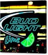 Bud Light Lime Tweeked Canvas Print