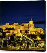 Buda Castle At Night Canvas Print