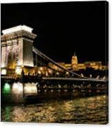 Chain Bridge And  Buda Castle  Canvas Print