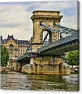 Budapest - Chain Bridge Canvas Print