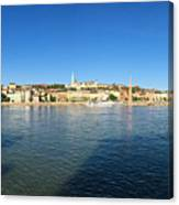 Budapest And Danube Panorama Canvas Print