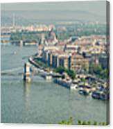 Budapest Panorama Photo Canvas Print