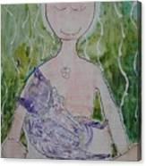 Buddess And Cat Canvas Print