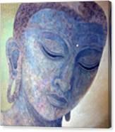 Buddha Alive In Stone Canvas Print