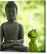 Buddha And Buddy Canvas Print