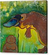 Buddha And The Divine Platypus No. 1375 Canvas Print