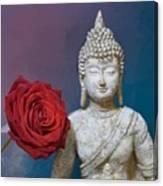 Buddha And Rose Canvas Print