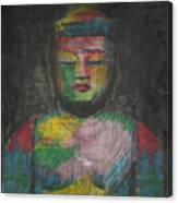 Buddha Encaustic Painting Canvas Print