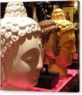 Buddha Heads Canvas Print