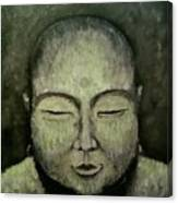 Buddha In Green Canvas Print