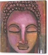 Buddha In Shades Of Purple Canvas Print