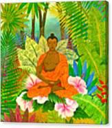 Buddha In The Jungle Canvas Print