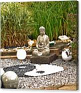 Buddha Looks At Yin And Yang Canvas Print