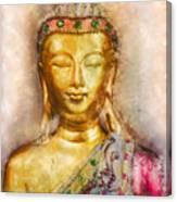 Buddha Peace Love And Light Canvas Print