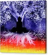 Buddha Under The Wisdom Tree Canvas Print