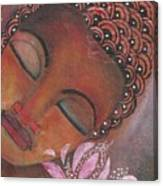 Buddha With Pink Lotus Canvas Print