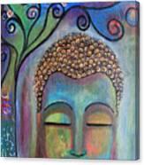 Buddha With Tree Of Life Canvas Print