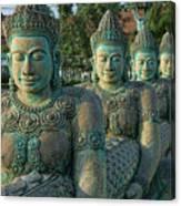 Buddhas All In A Row Canvas Print