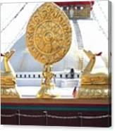 Buddhist Dharma Wheel Canvas Print