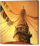 Buddhist Stupa- Nepal Canvas Print