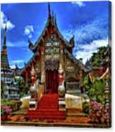 Buddhist Temples In Chiang Mai Canvas Print