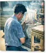 Buddhist Way Of Praying Canvas Print