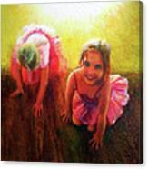 Budding Ballerinas Canvas Print