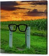 Buddy Holly Glasses Canvas Print