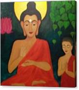 Budha Blessing Canvas Print
