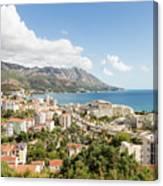 Budva Along The Adriatic Sea In Montenegro Canvas Print