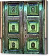 Buenos Aires Church Crypt Door Canvas Print