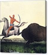 Buffalo Hunt, 1832 Canvas Print