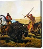 Buffalo Hunt, 1862 Canvas Print