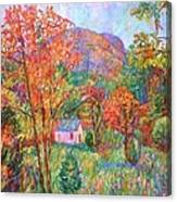 Buffalo Mountain In Fall Canvas Print