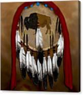 Buffalo Shield Canvas Print