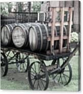 Buffalo Trace Barrel Wagon Canvas Print